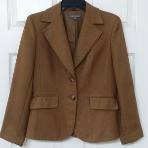 Ann Taylor Wool Brown / Tan Blazer